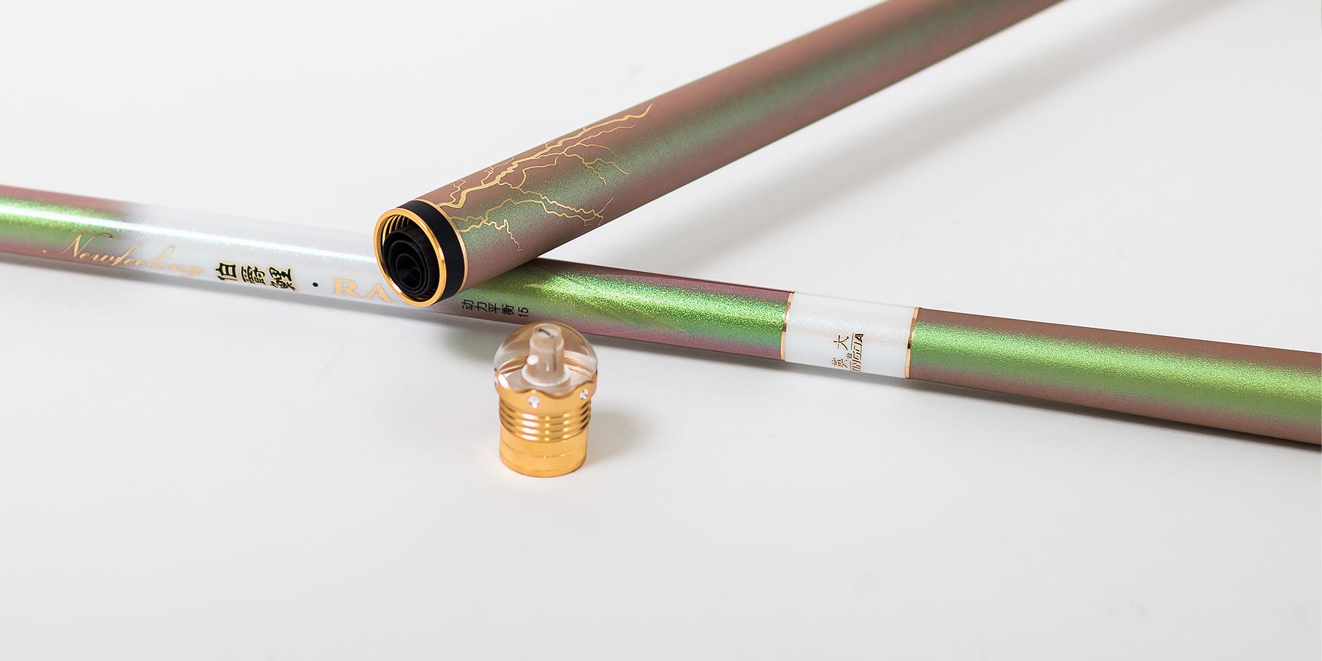 素材均匀切口平整,竿壁特制合金加固螺纹,保障后堵精密嵌合