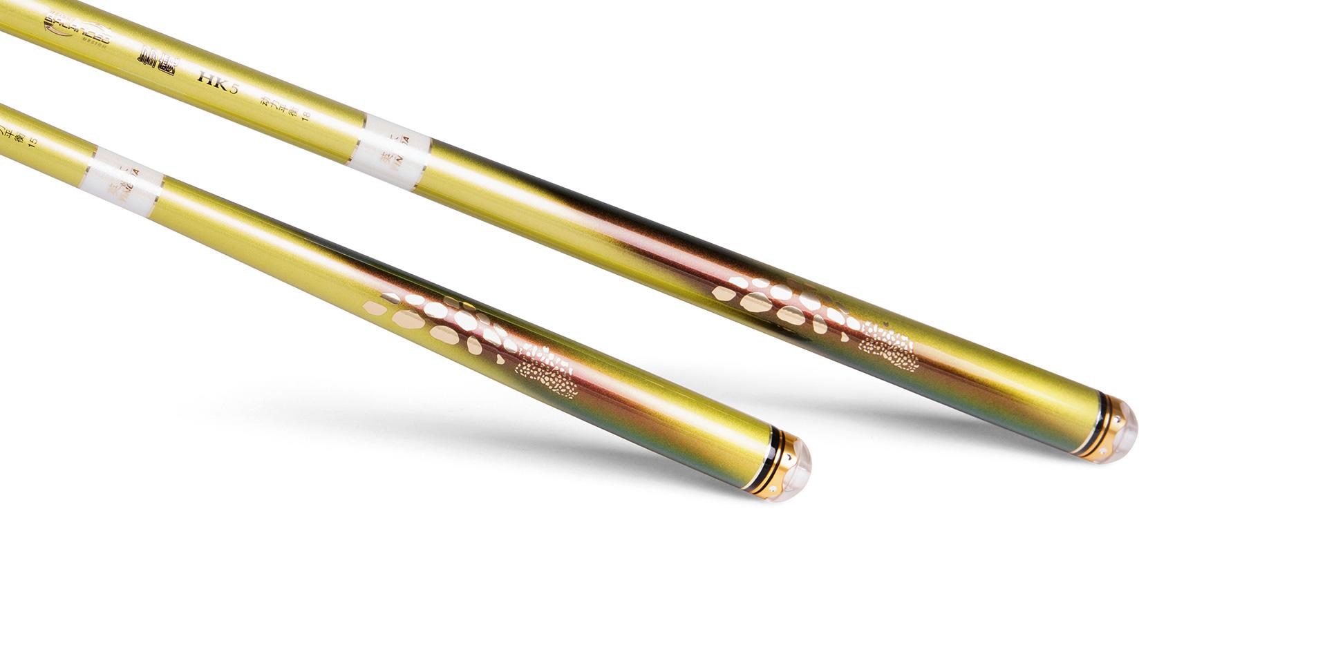 多魔・HK5的防滑式手把金色烫金滑斑点工艺,透视出传统与现代的自然韵致,握感舒适无比。与合金嵌钻工艺水晶前后堵精密嵌合,更显品质高雅。