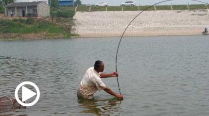 就钓个鱼,竟然还得拼游泳技术...