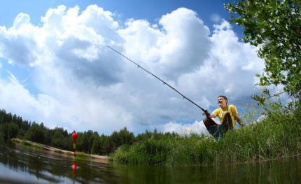 不是所有的风天都能钓鱼!