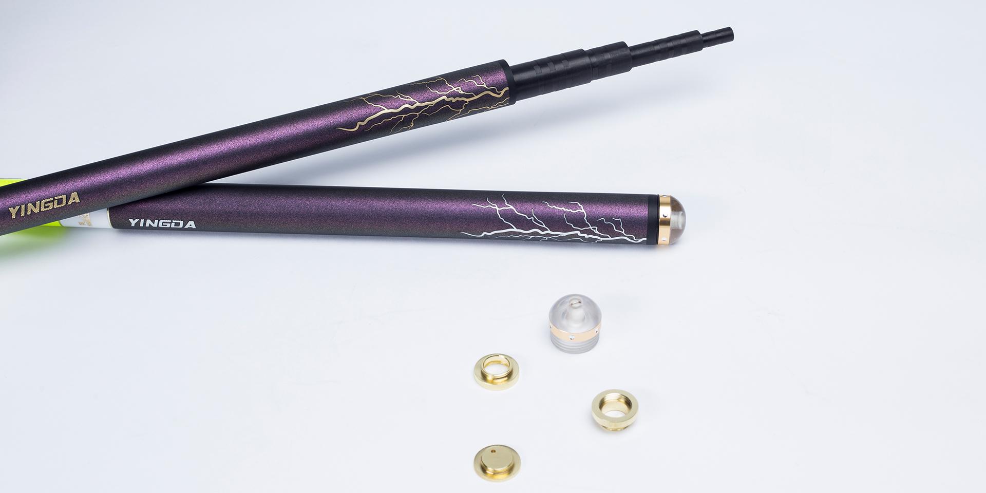 可卸式纯金属配重件可随心所欲调节重心微调调性,尾部采用独特的ALS设计,更加增强了钓竿的优越制御力。