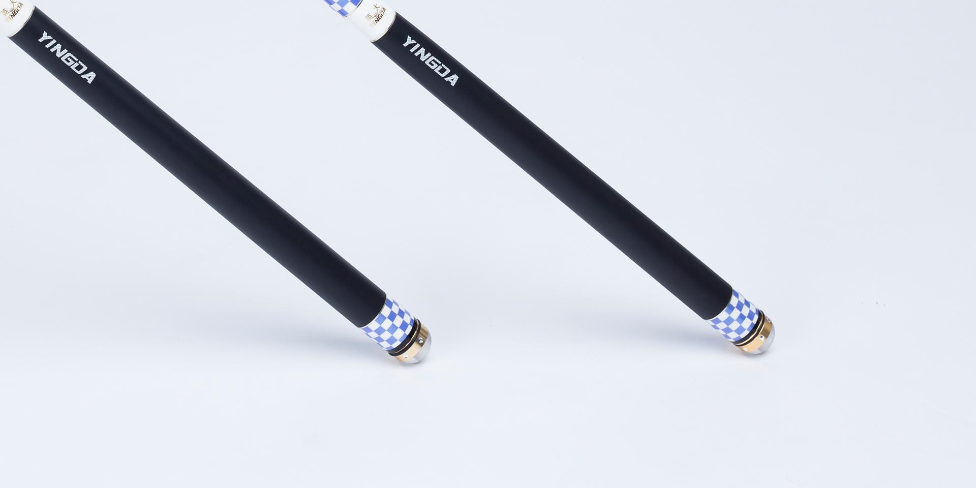 高级橡胶防滑手把,握感舒适,搭配合金嵌钻工艺水晶(前)后堵可360°旋转隐藏失手环(此项已获得国家专利保护)
